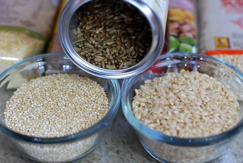 quinoa amaranth hirse buchweizen pseudogetreide glutenfrei
